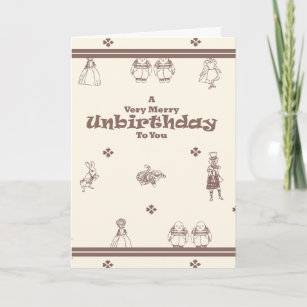 Belated cards photocards invitations more late birthday card a merry unbirthday christmas card m4hsunfo