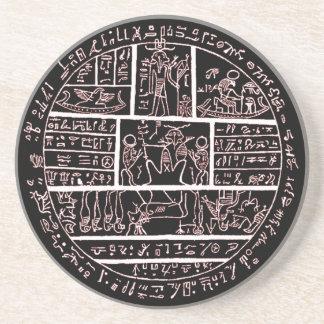 late demotic egyptian amulet coaster