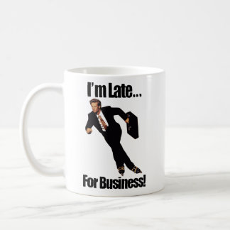 Late For Business Rollerblade Skater Meme Coffee Mug