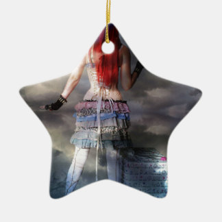 LATE FOR THE PARTY CERAMIC STAR ORNAMENT
