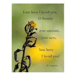 Late have I loved you Postcard