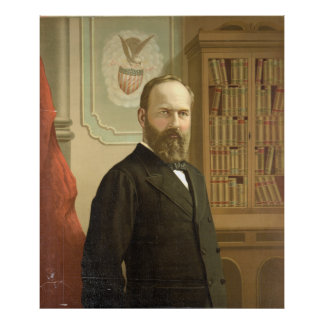 Late President James A. Garfield By G.F. Gilman Poster