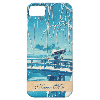 Late Snow Along Edo River hasui kawase winter art iPhone 5 Covers