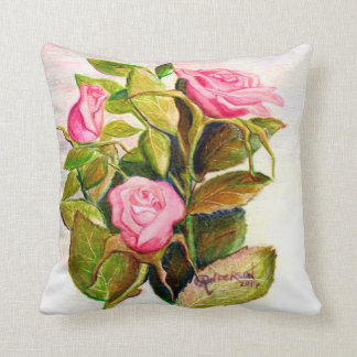 Late Spring Roses Decorative Pillow
