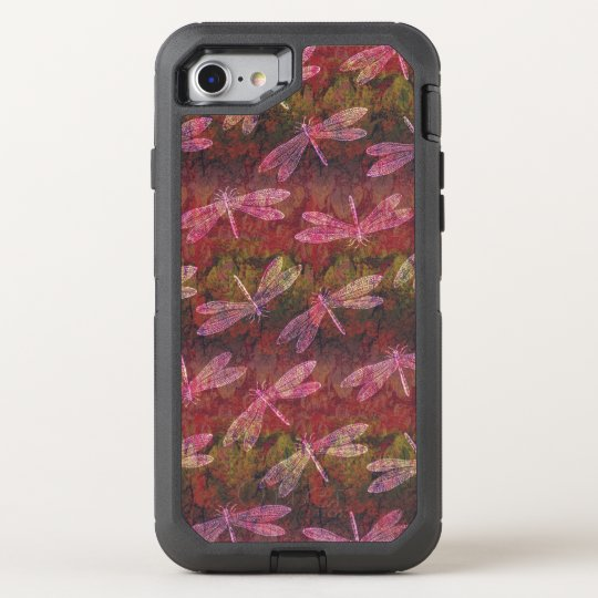 Late Summer Dragonfly Pattern OtterBox Defender iPhone 7 Case