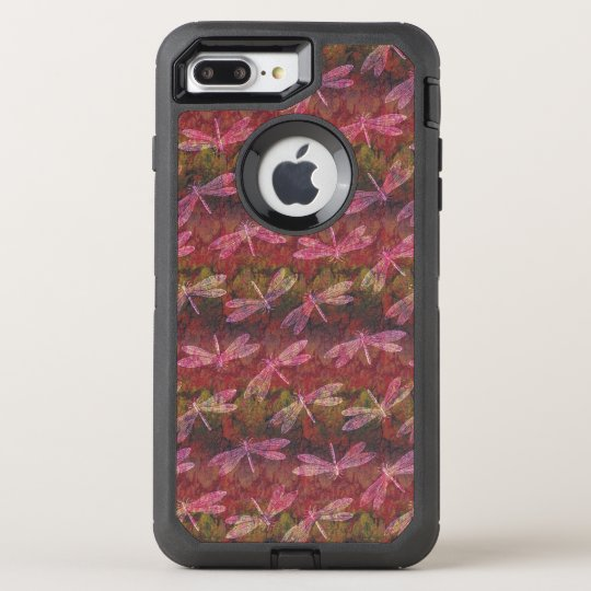 Late Summer Dragonfly Pattern OtterBox Defender iPhone 8 Plus/7 Plus Case