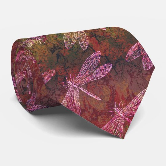 Late Summer Dragonfly Pattern Tie