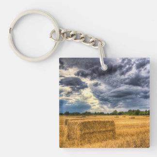 Late Summer on the farm Key Chain