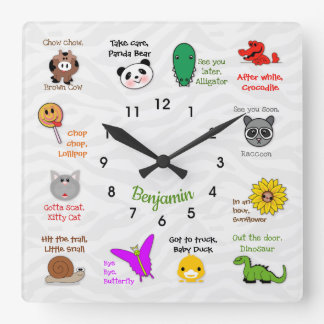 Later, Alligator Rhyme Wall Clock