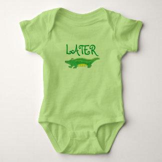 Later Gator Green Yellow Alligator Croc Crocodile Baby Bodysuit