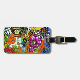 Latest colorful amazing floral pattern design art. bag tag