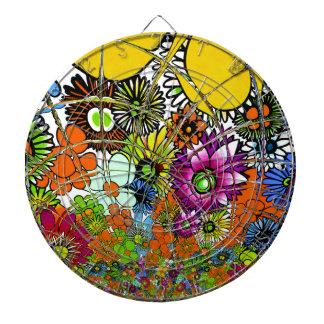 Latest colorful amazing floral pattern design art. dartboard