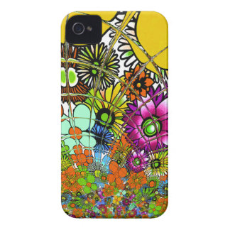 Latest colorful amazing floral pattern design art. iPhone 4 Case-Mate cases