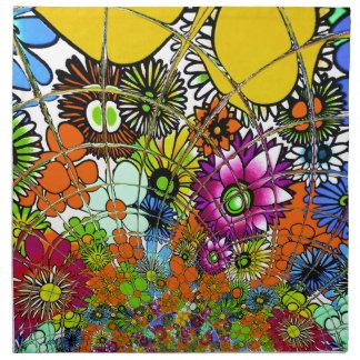 Latest colorful amazing floral pattern design art. napkin
