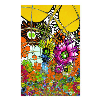 Latest colorful amazing floral pattern design art. personalized stationery