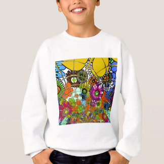 Latest colorful amazing floral pattern design art. sweatshirt
