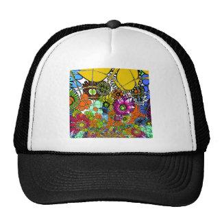 Latest colorful amazing floral pattern design art. trucker hat