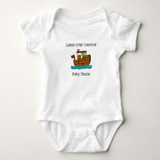 Latest Crew Member Tug Boat Personalized Baby Bodysuit