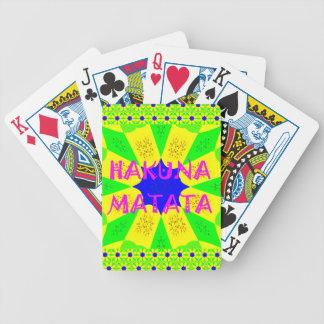 Latest Hakuna Matata Beautiful Amazing Design Colo Bicycle Playing Cards