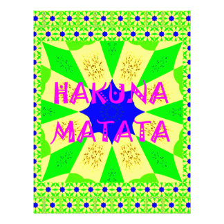Latest Hakuna Matata Beautiful Amazing Design Colo Letterhead