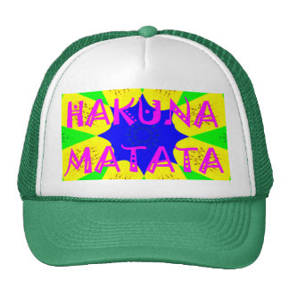 Latest Hakuna Matata Beautiful Amazing Design Colo Trucker Hat