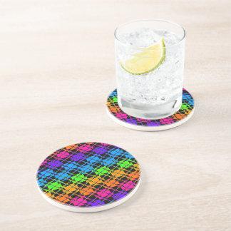 Latest lovely edgy colorful happy reflection desig beverage coasters
