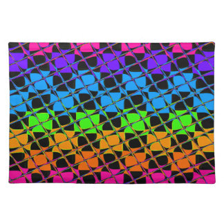 Latest lovely edgy colorful happy reflection desig placemat