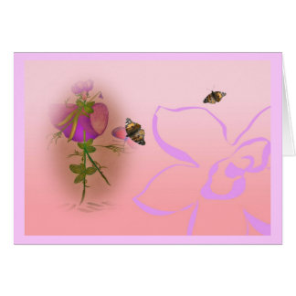 Lathyrus elve sweet pea card
