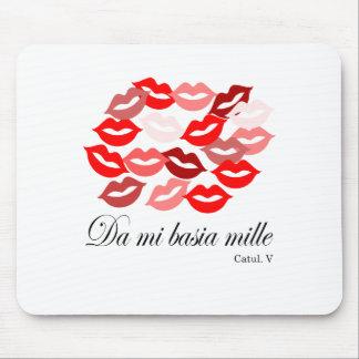 Latin-Catullus Five: 1,000 kisses Mouse Pad