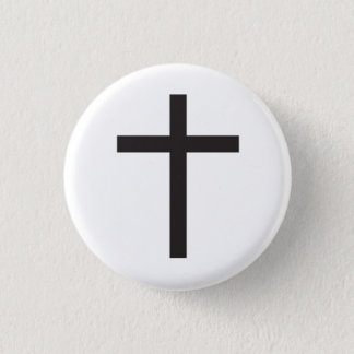 Latin Cross Religious Symbol 1 Inch Round Button