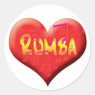 Latin Dance Stationary Classic Round Sticker