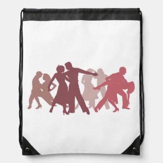 Latin Dancers Illustration Drawstring Bag