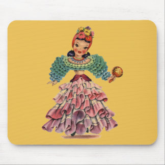 Latin Doll Mouse Pad