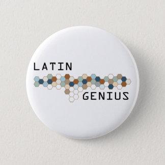 Latin Genius 2 Inch Round Button