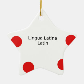 Latin Language Design (Lingua Latina) Ceramic Ornament