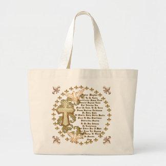 Latin Lords Prayer Tote Bag