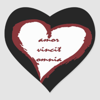 Latin Love Conquers All Heart Stickers