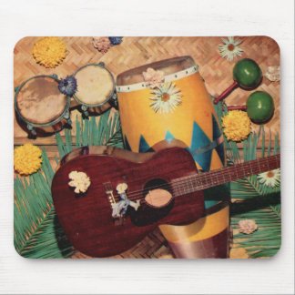 Latin music instruments mouse pad