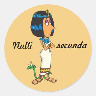 Latin Nulli secunda Round Stickers