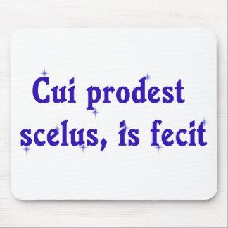 Latin Phrase on Lawyer Mousepad