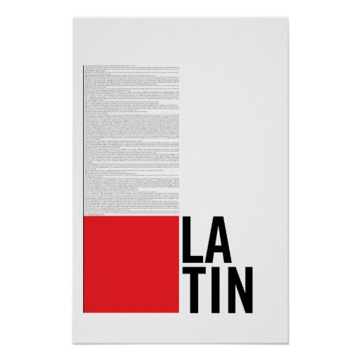 Latin Print