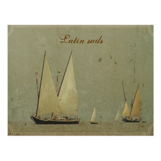 Latin sails postcard