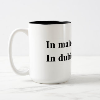 "Latin saying: ""Often wrong, but Never in doubt"" Two-Tone Coffee Mug"