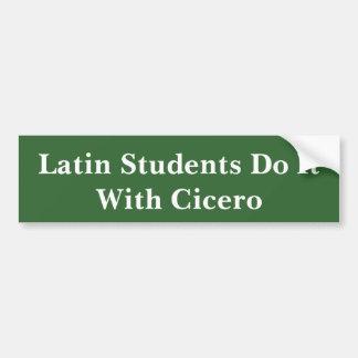 Latin Students And Cicero Bumper Sticker