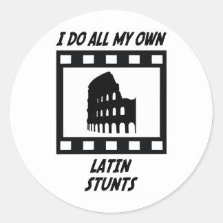 Latin Stunts Classic Round Sticker
