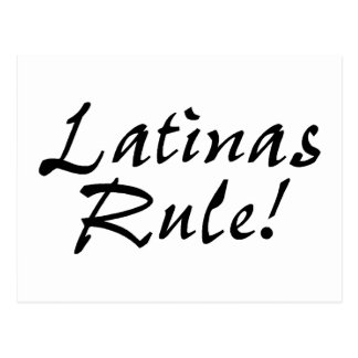 Latinas Rule Postcard