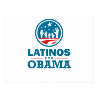 Latinos for Obama Postcard