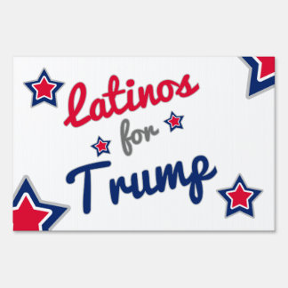 Latinos for Trump Political Gear Sign