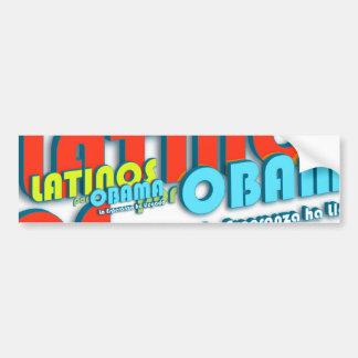 Latinos Por Obama Bumper Sticker
