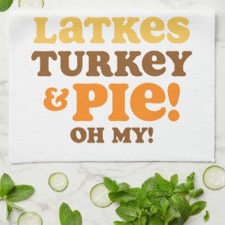 Latkes Turkey And Pie Kitchen Towel